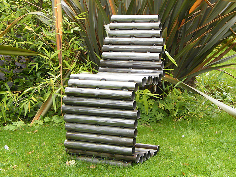 Tube Chair - viewed in garden