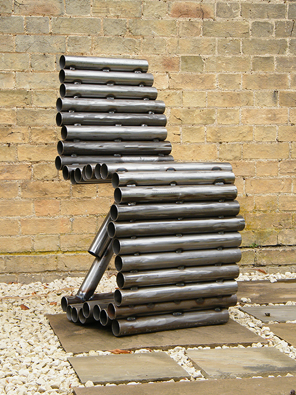 Tube chair contemporary and modern metal furniture by for Contemporary metal furniture
