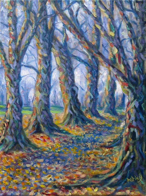 Autumn Avenue, oil on canvas
