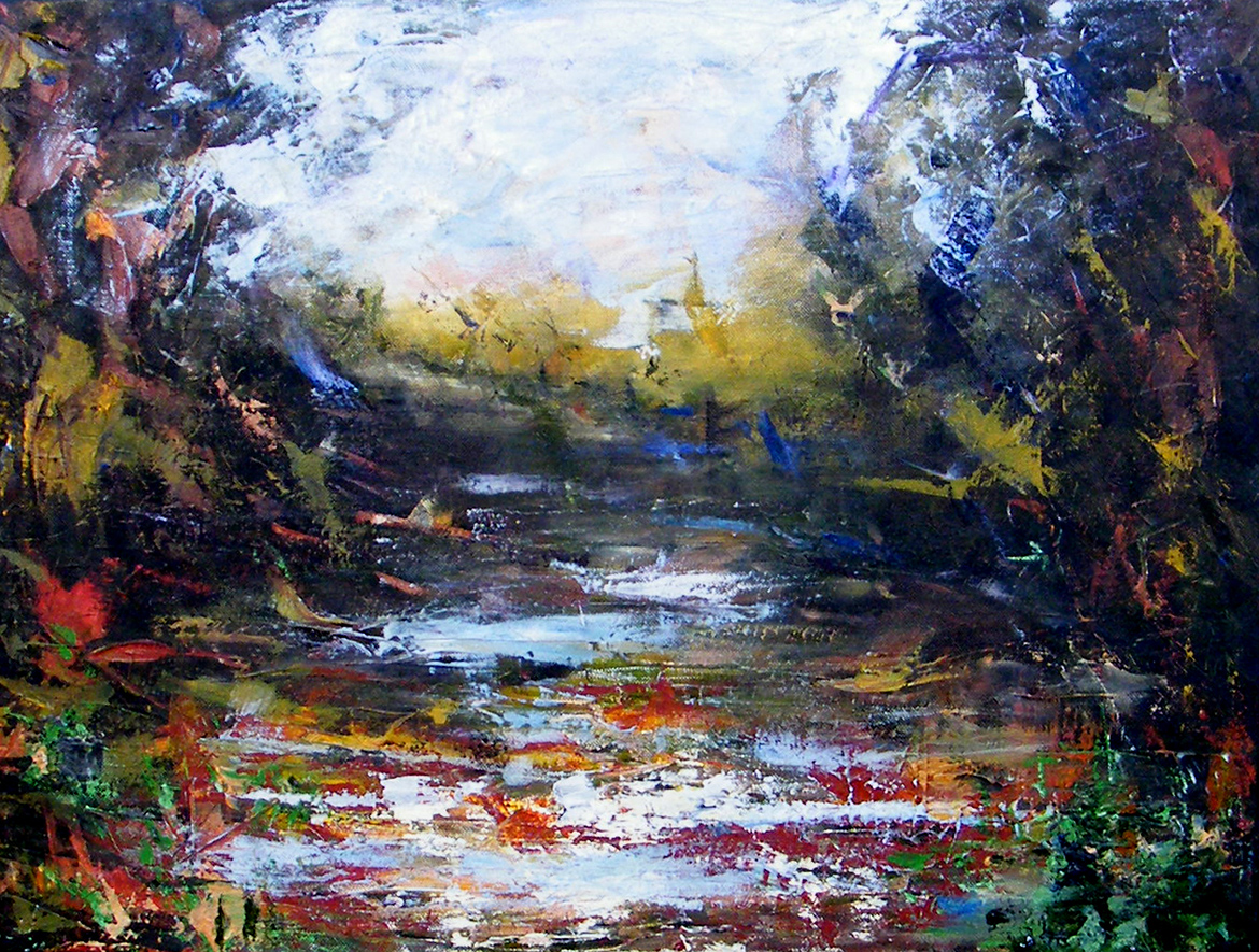 Memory Landscape - Oil painting on canvas