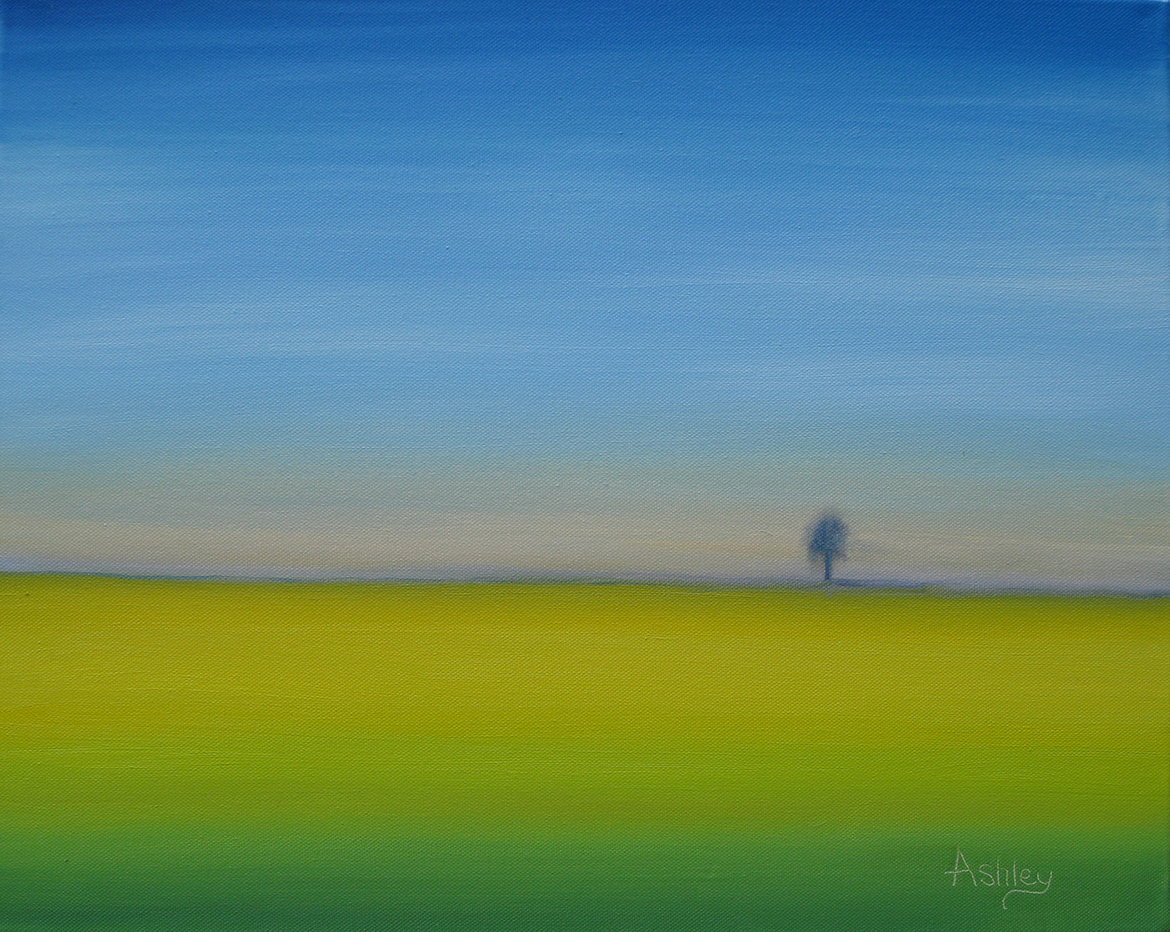 Oil painting Rapeseed Field