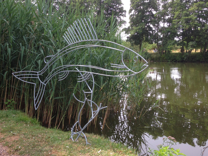 Grayling sculpture for sale