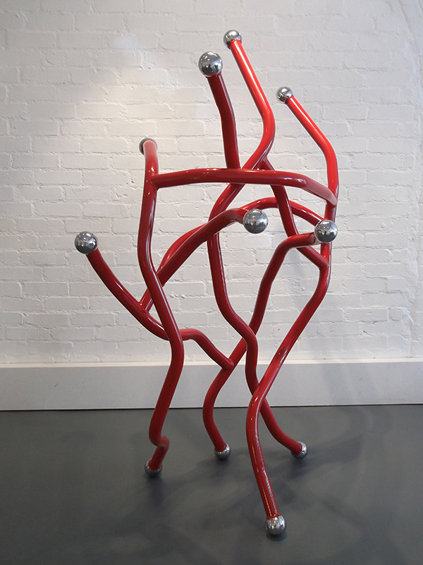 Red Dance recycled metal sculpture