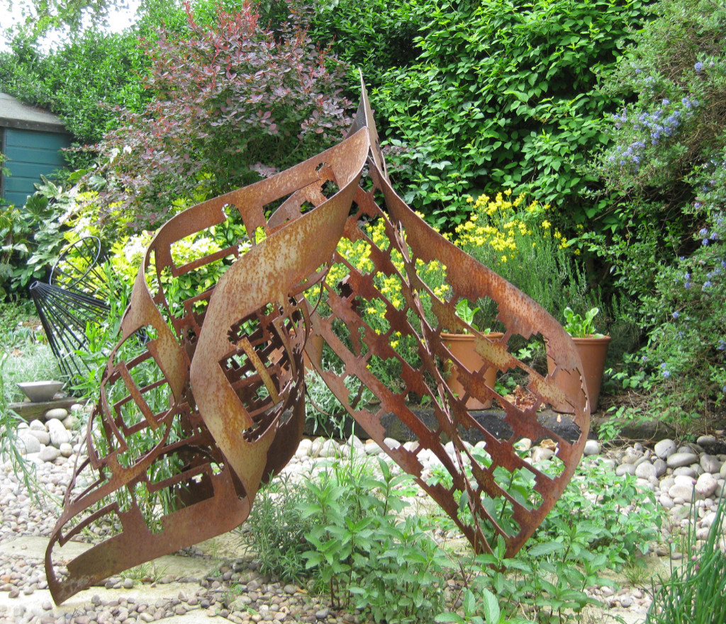 Trinity - metal sculpture, now on display at Haddenham Galleries